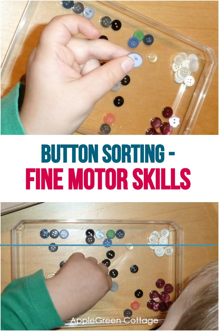 Button Sorting Activities - Fine Motor Skills