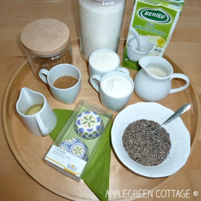 vegan muffins - ingredients and recipe