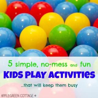 no-mess kids activities