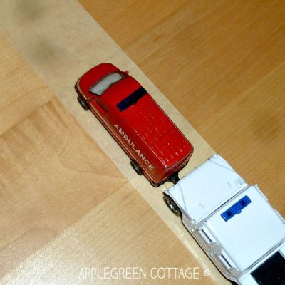 masking tape road for kids