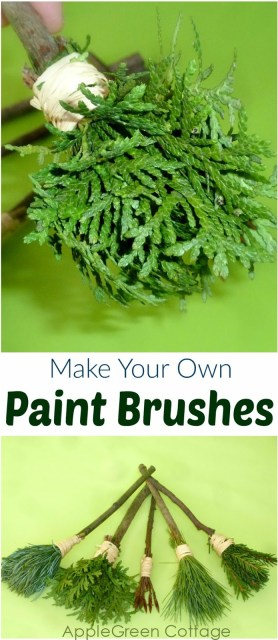 DIY nature paint brushes, a simple way for kids to use natural materials to make art supplies. Diy paintbrush how-to