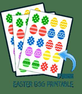 easter egg matching game printable