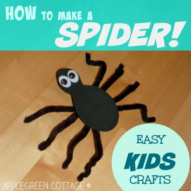 How to make a spider. An easy and quick spider craft your kid will love!