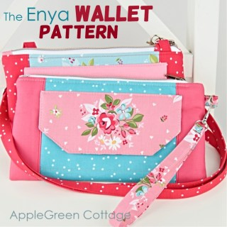 wallet pattern with wristlet strap