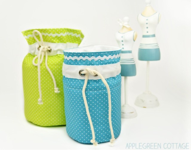 fabric basket pattern for kids room
