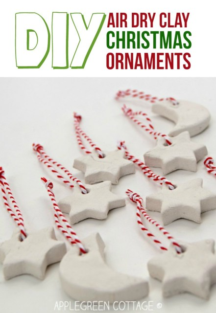 air dry clay christmas ornaments