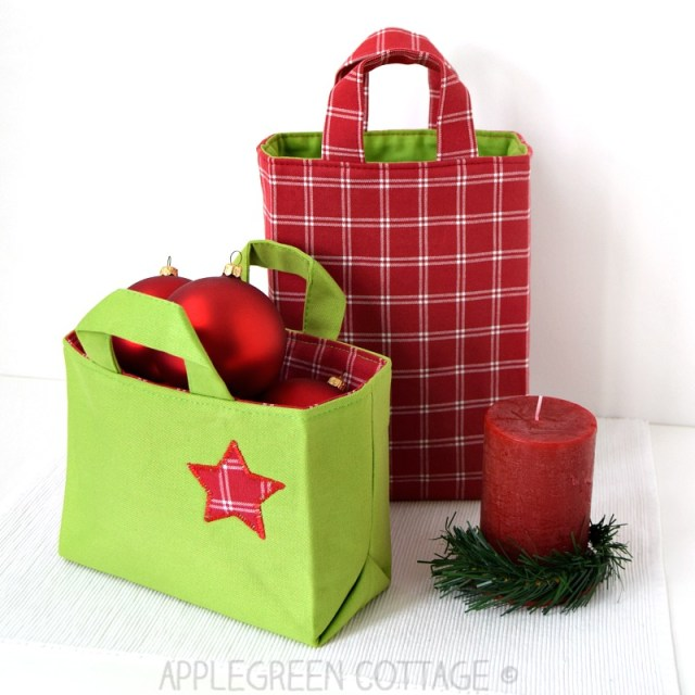 DIY Christmas gift bag pattern to sew