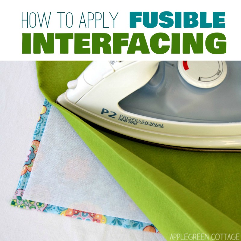 how to apply fusible interfacing