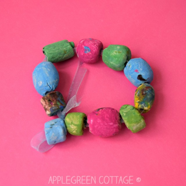 air dry clay bracelet for kids to make