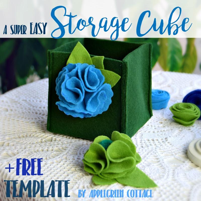 easy diy storage cube
