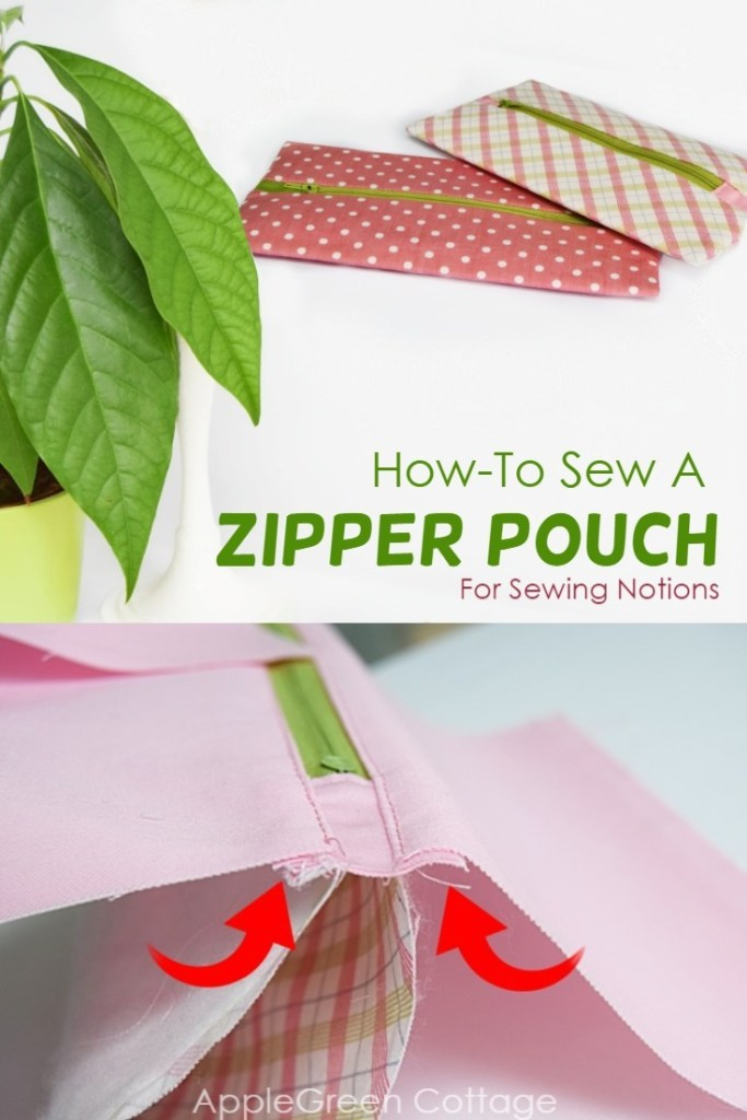 Zipper Pouch For Sewing Notions – Tutorial