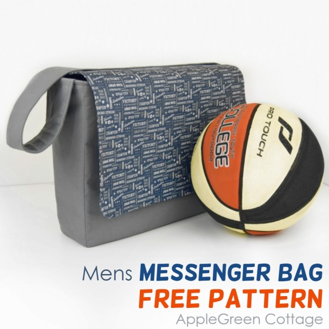 mens messenger bag pattern