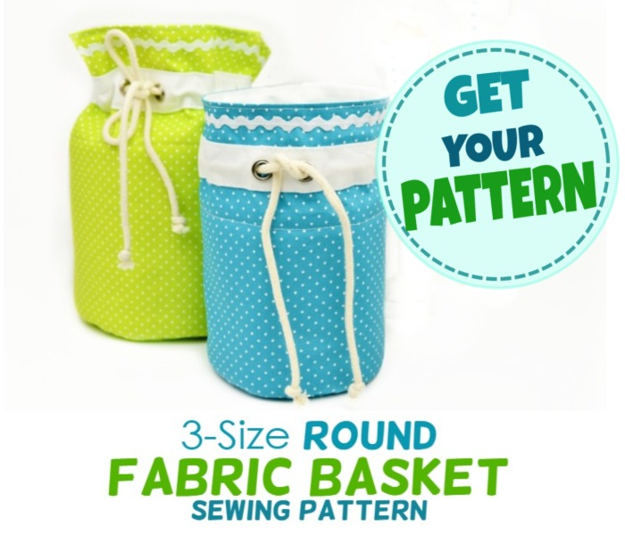round fabric basket pattern