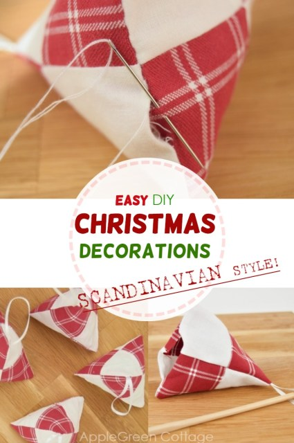 Diy Christmas decorations in Scandinavian style to sew trending holiday home decor