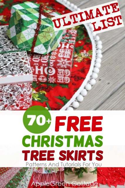 Christmas tree skirts to diy now - free tree skirt sewing patterns and tutorials and no-sew diy tree skirt ideas