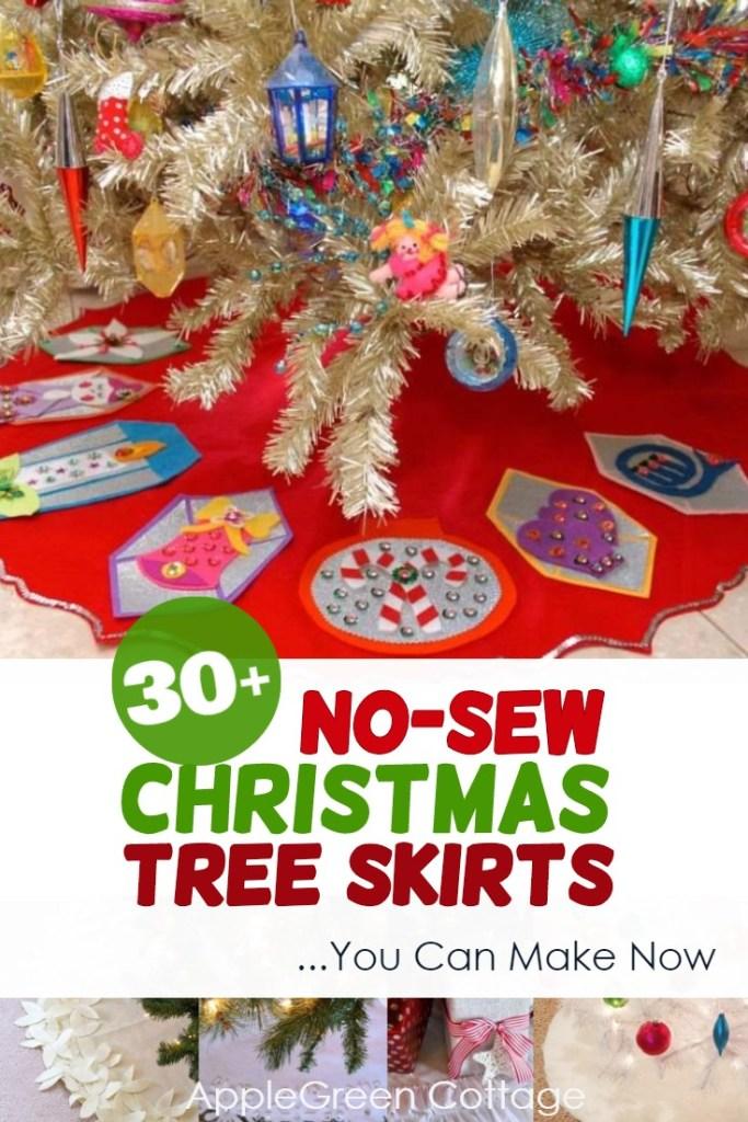 no-sew holiday tree skirts