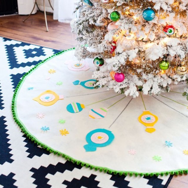 diy tree skirt for handmade Christmas