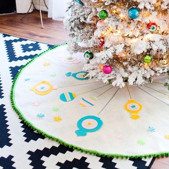 diy tree skirt for handmade Christmas