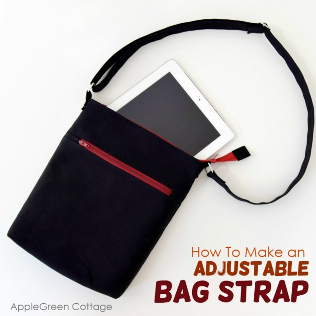 how to make an adjustable bag strap