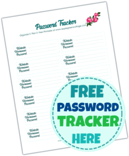 get free printable password tracker