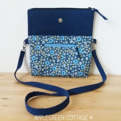 fold-over clutch and crossbody bag pattern