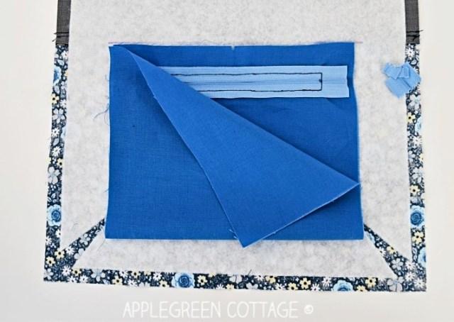 how to sew a zipper pocket