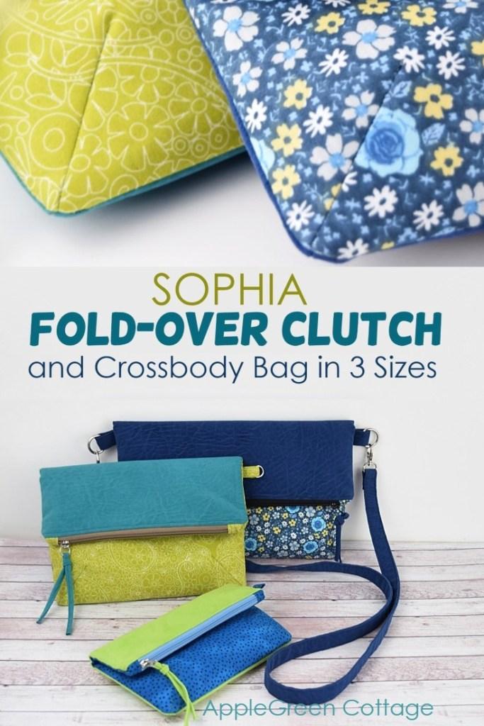 Foldover Crossbody Bag Pattern – Sophia Clutch and Crossbody Bag