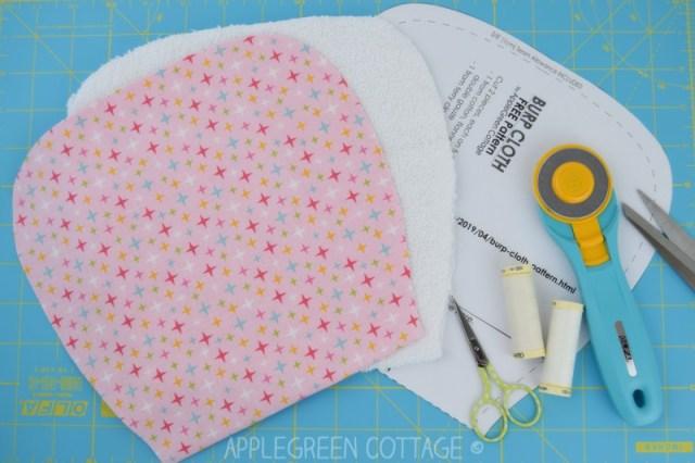 how to sew a burp cloth