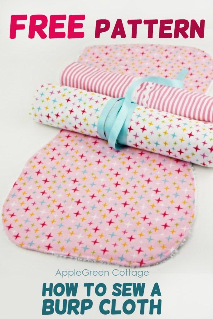 Free Burp Cloth Pattern – So cute!