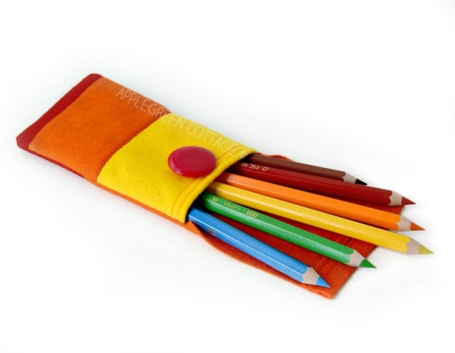 back to school felt pouch