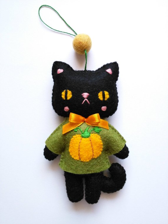 Halloween cat sewing pattern