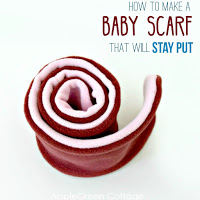 how to make a baby scarf that will stay put