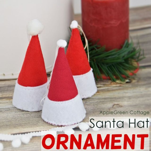 Santa hat ornament
