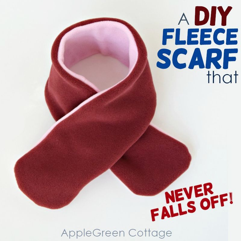 diy fleece scarf easy