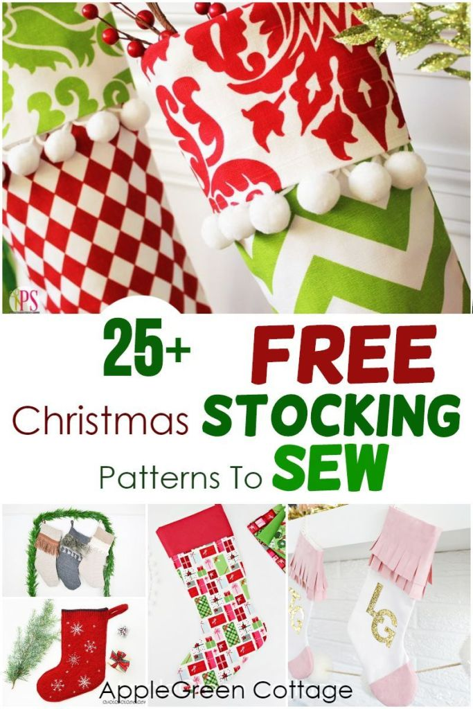 25+ Christmas Stocking Patterns – To Sew Now!