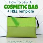 Cosmetic Bag Free Pattern