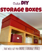 Cute DIY storage boxes - that will win you additional storage space