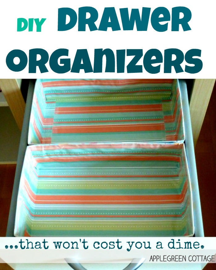 diy drawer organizer