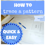 How to To Trace A Sewing Pattern From A Template