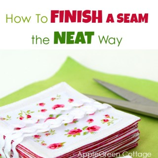 how to finish handstitching