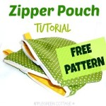 Polka Dot Zipper Pouch tutorial