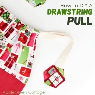diy hexie drawstring pull instructions