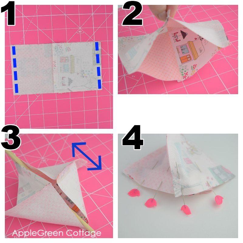 sewing a pincushion