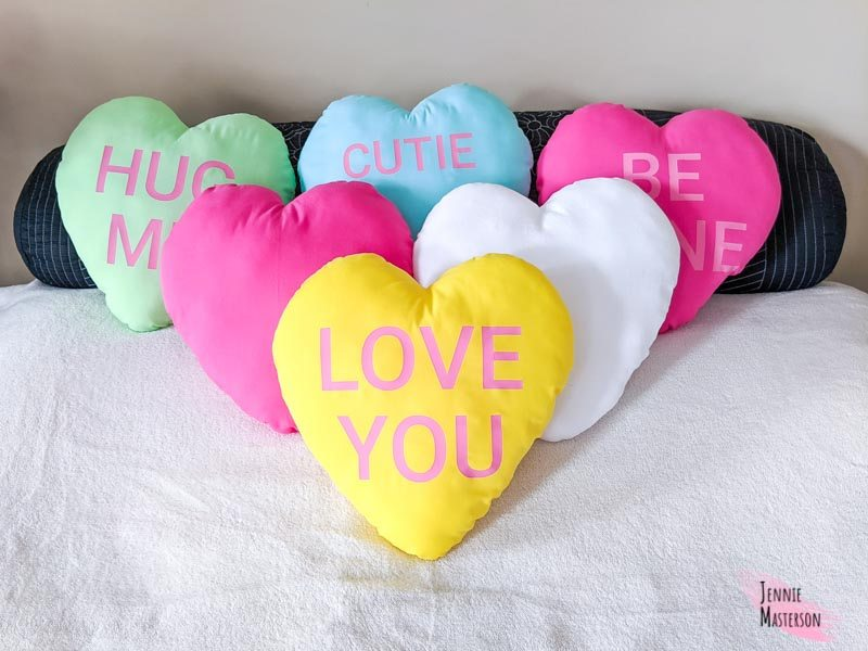 diy Valentines converstaion heart pillows