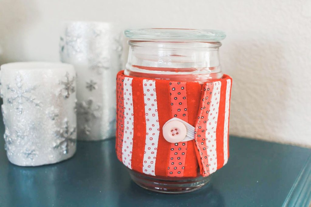 diy Valentines candle cozy