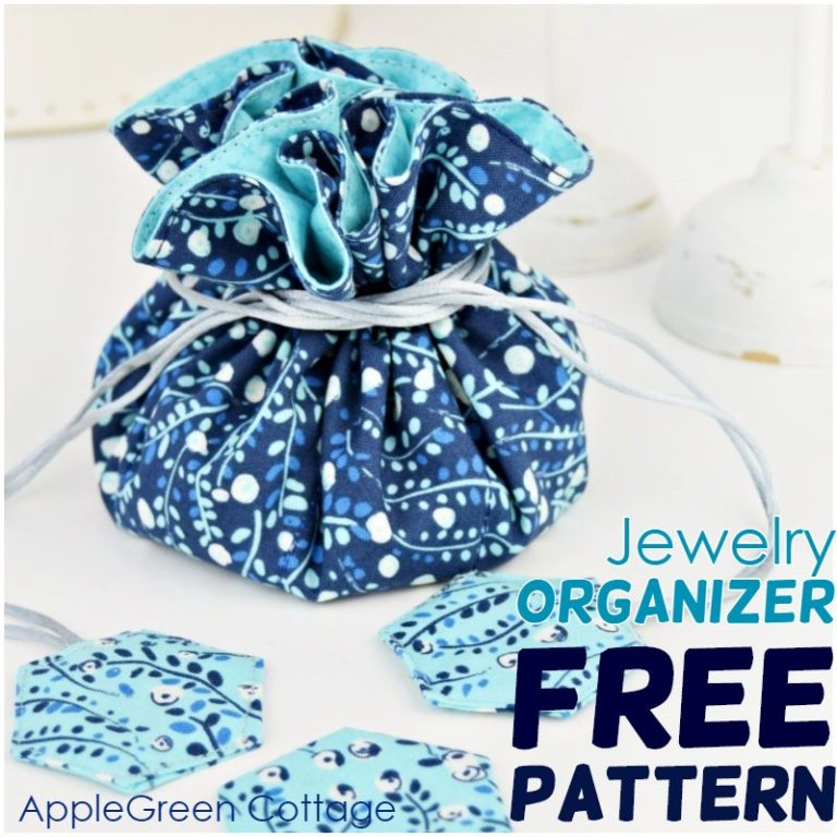 Sew a Drawstring Jewelry Pouch with Pockets