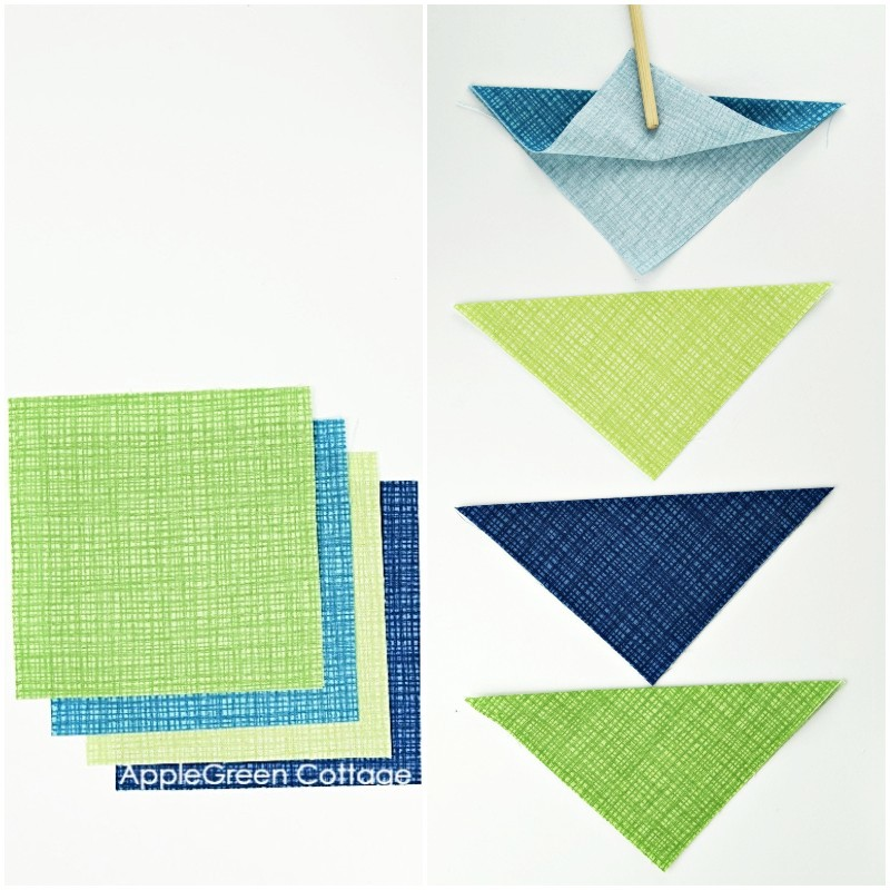 fold fabric for sewing coasters