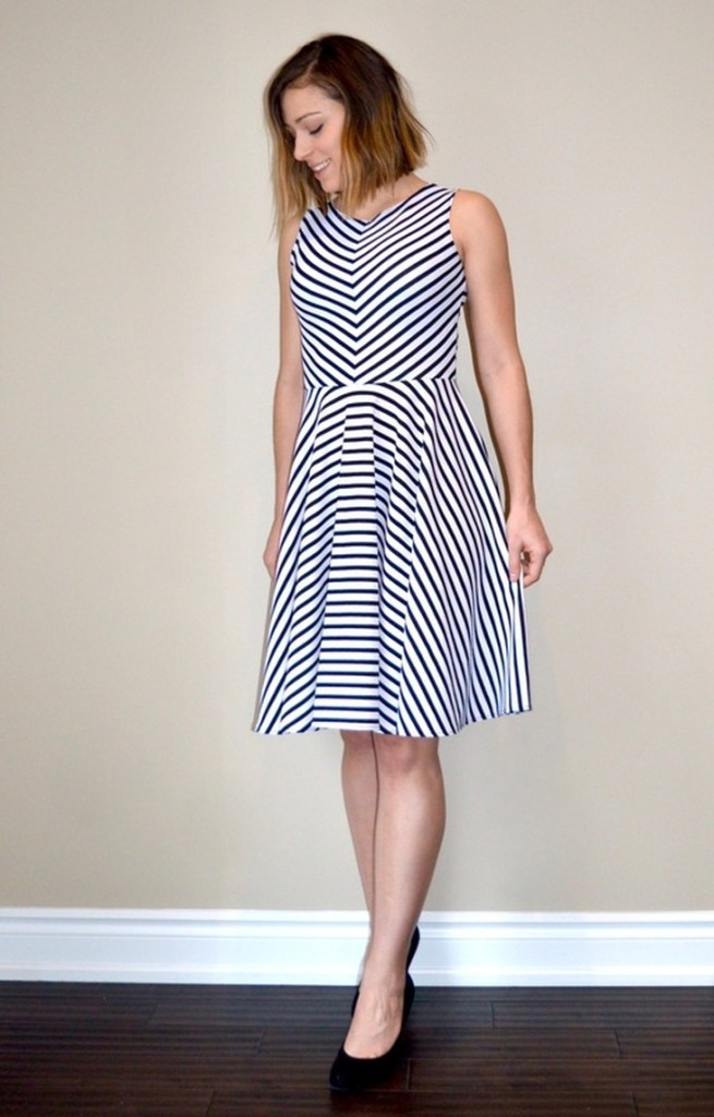 striped free dress pattern
