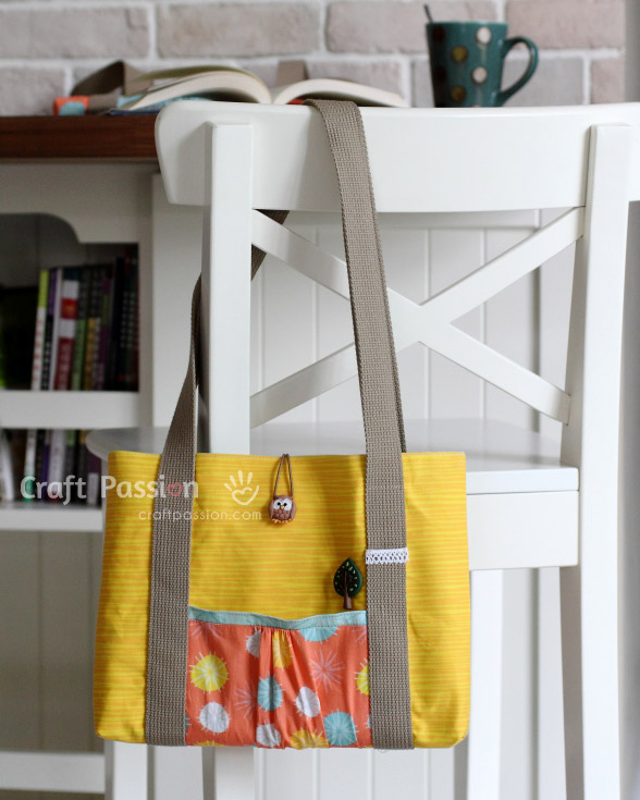 yellow laptop bag pattern