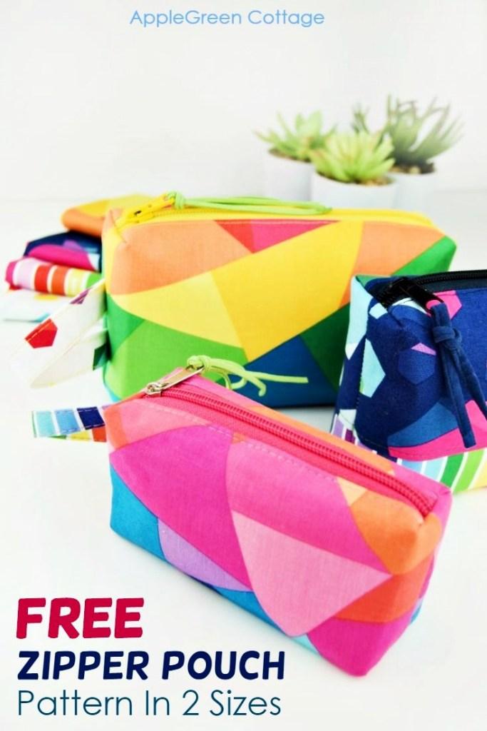 BOXED! Zipper Pouch Pattern – Free Pattern in 2 Sizes